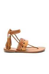 Soludos Flat Lace Up Sandal Tan