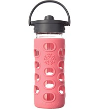 Lifefactory 12Oz Glass Bottle With Straw Cap And Silicone Sleeve