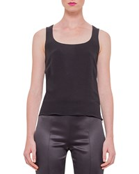 Akris Sleeveless Silk Shell Black