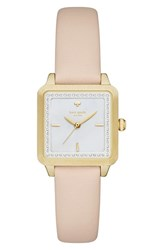Women's Kate Spade New York 'Washington' Square Leather Strap Watch 25Mm