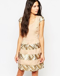 Traffic People Little Coquette Dress Cream