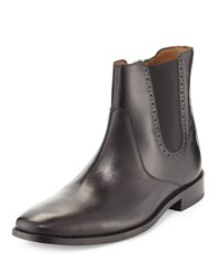 Cole Haan Giraldo Chelsea Brogue Leather Boot Black Cavi