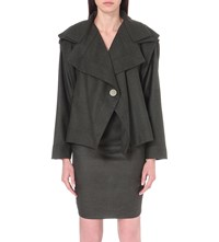 Anglomania Ethnic Draped Wool Jacket Forest