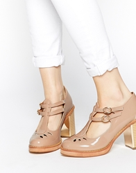 Truffle Collection Anya T Bar Heeled Shoes Nude