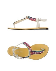 Barbara Bui Thong Sandals Ivory
