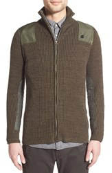 G Star Men's G Star Raw 'Effo' Rib Zip Sweater Green