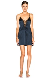 Kiki De Montparnasse Lace Inset Nightie In Blue