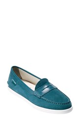 Women's Cole Haan 'Pinch Weekender' Loafer Turquoise Suede