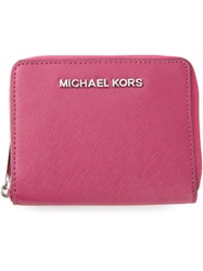 Michael Kors 'Jet Set Travel' Zip Around Wallet Pink And Purple