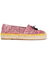 Chiara Ferragni 'Flirting' Glitter Espadrilles Pink And Purple