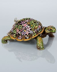 Milton Mille Fiori Turtle Box Multi Colors Jay Strongwater