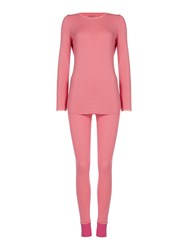 Dkny Long Sleeve Jet Setter Jersey Top And Leggings Pink