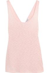 Splendid Crossover Back Slub Supima Cotton And Micro Modal Blend Tank Pastel Pink