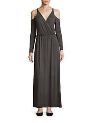 Candc California Lake Long Sleeve Gown Charcoal