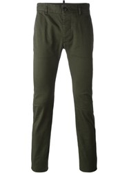 Dsquared2 Skinny Fit Chinos Green
