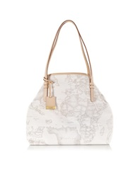 Alviero Martini Geo Printed Large 'New Basic' Shoulder Bag White