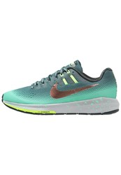 Nike Performance Air Zoom Structure 20 Shield Stabilty Running Shoes Hasta Metallic Red Bronze Green Glow Ghost Green Seaweed