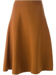 Marni Flared Midi Skirt Brown