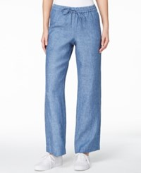 Charter Club Solid Linen Pants Only At Macy's Blue Ocean