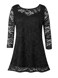 Grace Made In Britain Lace Tunic Black