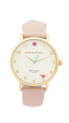 Kate Spade 5 O'clock Metro Leather Watch Vachetta Gold
