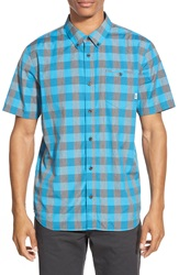 Vans 'Milton' Short Sleeve Plaid Woven Shirt