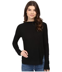 Project Social T Ruby Long Sleeve Boat Neck Black Women's Clothing