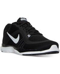 Nike Women's Flex Trainer 6 Wide Training Sneakers From Finish Line Black White