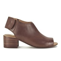 H Shoes By Hudson Women's Iris Peep Toe Leather Heeled Sandals Tan