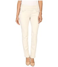 Jag Jeans Petite Peri Pull On Straight Twill Pants Stone Women's Casual Pants White