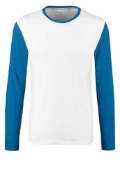 Your Turn Long Sleeved Top White Blue