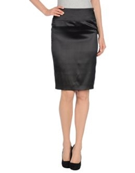 John Richmond Knee Length Skirts Black