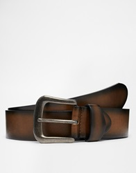 New Look Dark Edge Belt Brownpattern