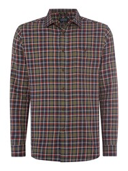 Howick Men's Hornsea Check Long Sleeve Shirt Green