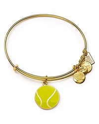 Alex And Ani Team Usa Tennis Expandable Wire Bangle Yellow Gold