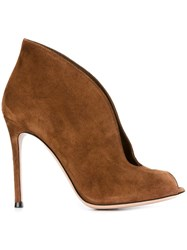 Gianvito Rossi 'Vamp' Booties Brown