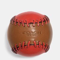 Coach Rip And Repair Baseball Paperweight Saddle Carmine