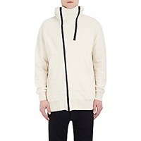 Nlst Men's Asymmetric Zip Front Hoodie White