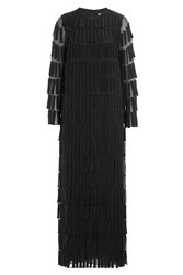 Valentino Floor Length Silk Gown Black