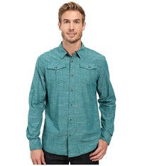 Prana Rollin Shirt Harbor Blue Men's Short Sleeve Button Up