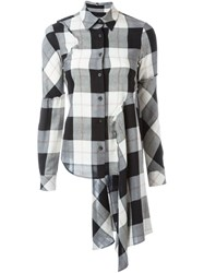 Maison Martin Margiela Mm6 Maison Margiela Plaid Shirt Black