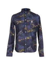 Franklin And Marshall Shirts Shirts Men Slate Blue
