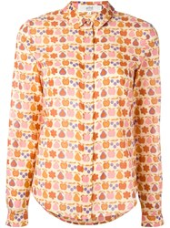 Vanessa Bruno Athe Fruit Print Button Down Shirt Nude And Neutrals