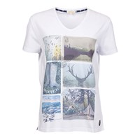 Barbour Brae Postcard T Shirt White