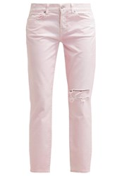 7 For All Mankind Josie Relaxed Fit Jeans Pastel Pink Rose