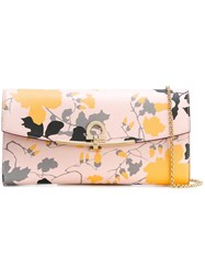 Salvatore Ferragamo Floral Print Clutch Nude And Neutrals