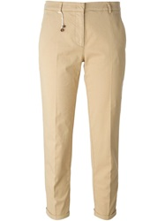 Incotex Cropped Trousers Nude And Neutrals