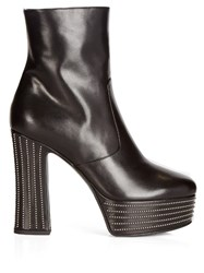 Saint Laurent Candy Platform Ankle Boots Black