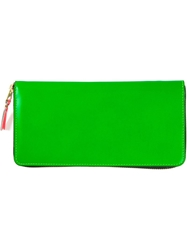 Comme Des Garcons Wallet Zip Around Wallet Green
