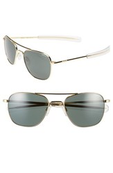 Women's Randolph Engineering 55Mm Aviator Sunglasses Gold